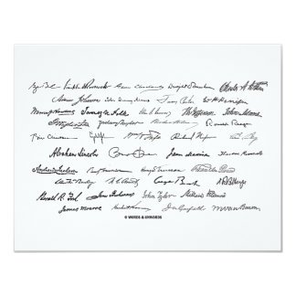 Presidential Signatures (United States Presidents) Card