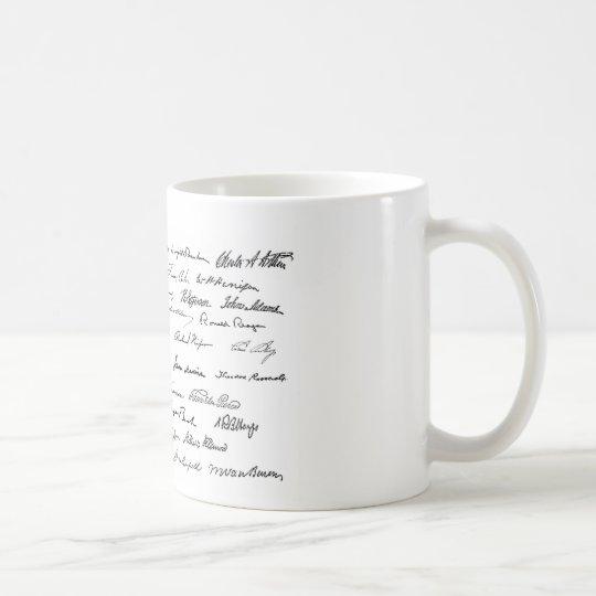 Presidential Signatures (United States Presidents) Coffee Mug