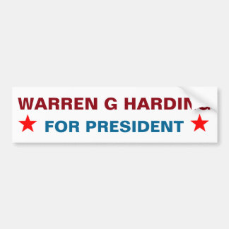 Presidential Sticker: Warren G Harding Bumper Sticker