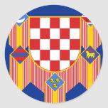 Presidential   the Republic Croatia, Croatia Round Sticker