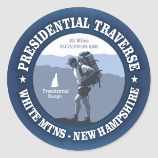Presidential Traverse (rd) Classic Round Sticker