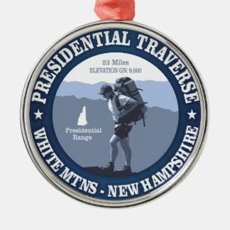 Presidential Traverse (rd) Metal Ornament