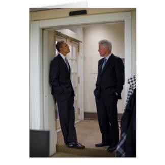 Presidents Barack Obama & Bill Clinton Card