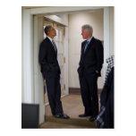 Presidents Barack Obama & Bill Clinton Postcard