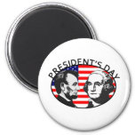 PRESIDENT'S DAY 2 INCH ROUND MAGNET
