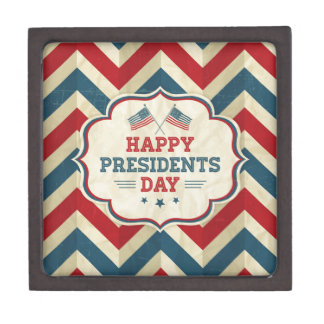 presidents day chevron jewelry box