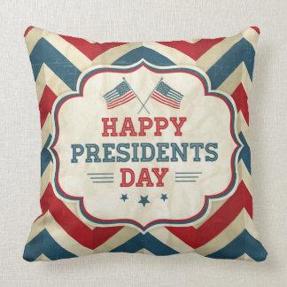 presidents day chevron pillow