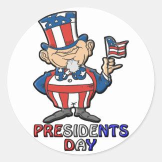 Presidents Day Classic Round Sticker