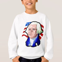 Presidents Day, George Washington and USA Flag Sweatshirt