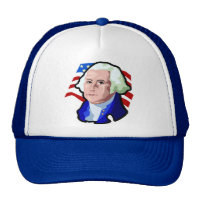 Presidents Day, George Washington and USA Flag Trucker Hat