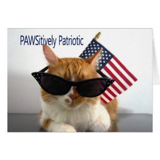 Presidents' Day - PAWSitively Patriotic Cat Card