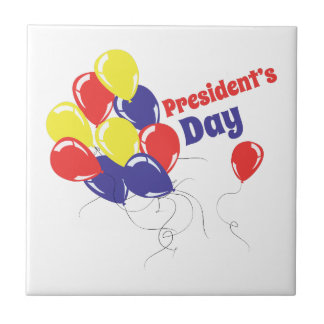 Presidents Day Small Square Tile
