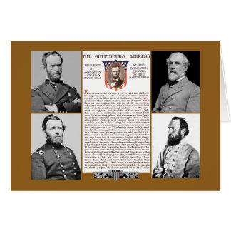 Presidents Day Tribute Gettysburg Address NoteCard