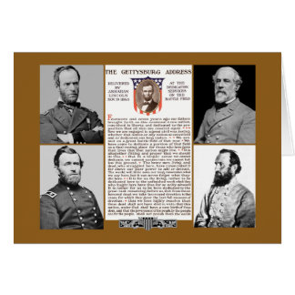 Presidents Day Tribute Gettysburg Address NoteCard Stationery Note Card