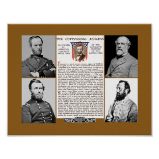 President's Day Tribute Gettysburg Address Poster