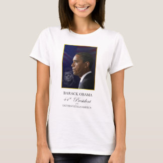 Presidents Obama and Kennedy - Ladies T-shirt