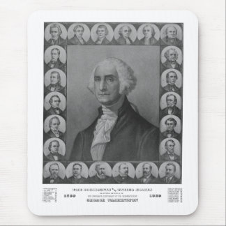 Presidents of The United States 1789-1889 Mouse Pad