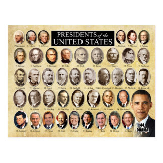 Presidents of the United States of America Postcard