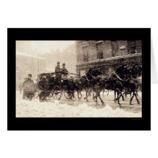 Presidents Roosevelt and Taft Carriage to Capitol Card
