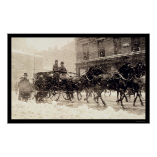 Presidents Roosevelt and Taft Carriage to Capitol Print