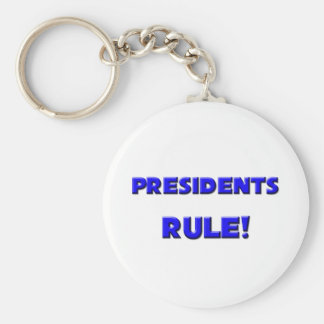 Presidents Rule! Basic Round Button Keychain