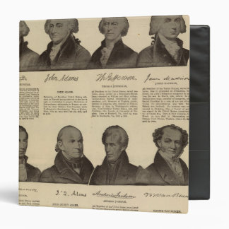 Presidents US, autographs, biographies 2 3 Ring Binder