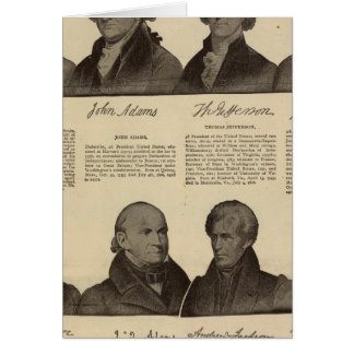 Presidents US, autographs, biographies 2 Card