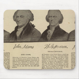 Presidents US, autographs, biographies 2 Mouse Pad