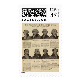 Presidents US, autographs, biographies 2 Postage