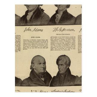 Presidents US, autographs, biographies 2 Postcard