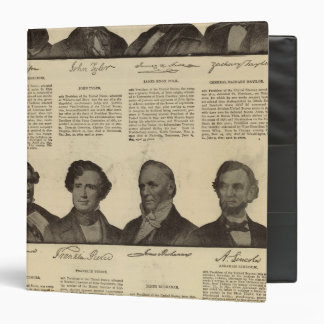 Presidents US, autographs, biographies Binder