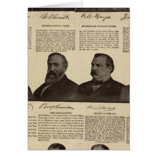 Presidents US, autographs, biographies Card
