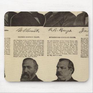 Presidents US, autographs, biographies Mouse Pad