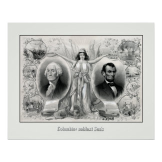 Presidents Washington and Lincoln Print