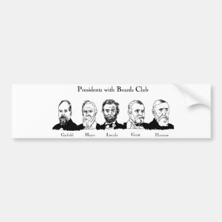 Presidents with Beards Club Bumper Sticker