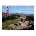 Presidio Gun Turrets And The Golden Gate Bridge In Postcards