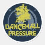 Presión de Dancehall Pegatina Redonda
