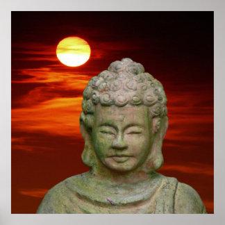 Presión de lienzo lienzo Canvas Print Buda Póster