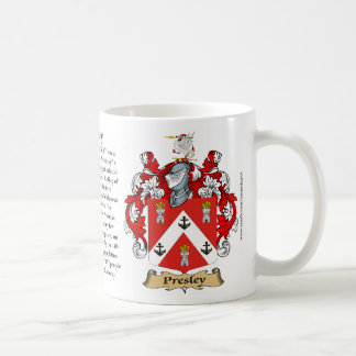 Presley, the Origin, the Meaning and the Crest Coffee Mug