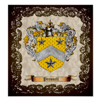 Presnell Coat of Arms Poster
