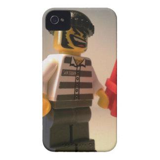 Preso de Convict Minifig con los palillos de la Case-Mate iPhone 4 Fundas