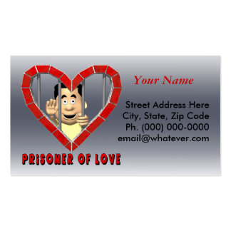 Preso del amor 2 tarjetas de visita