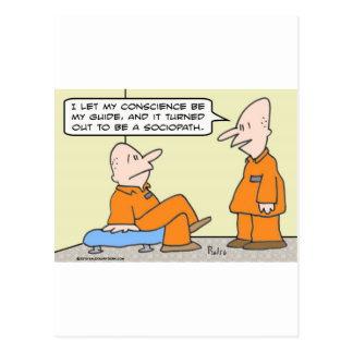 preso del sociopath de la guía de la conciencia postales