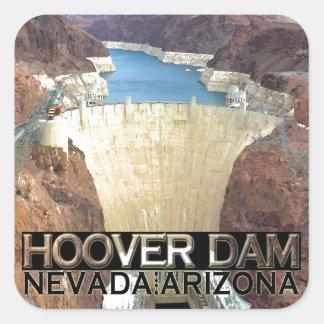 Preso Hoover Pegatina Cuadrada