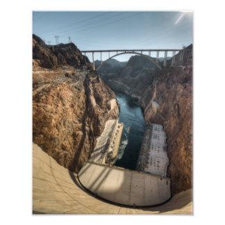 Preso Hoover rio abajo y puente Impresiones Fotograficas