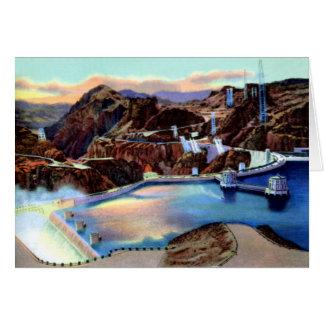 Preso Hoover y aliviadero de Nevada de la ciudad d Tarjeta De Felicitación