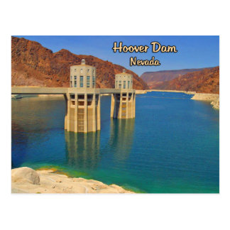 Preso Hoover y el lago Mead Postal
