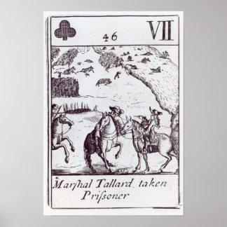 Preso tomado Tallard del mariscal Póster