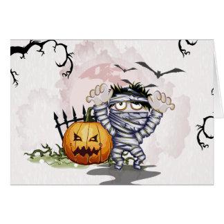 Preso y calabaza de Halloween.  ¡AYUDA!!! Tarjetón