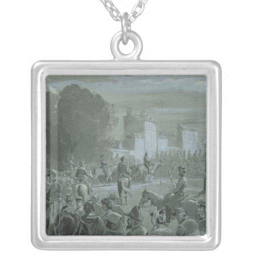 Presos de Communard escoltados a Versalles, 1871 Colgante Cuadrado